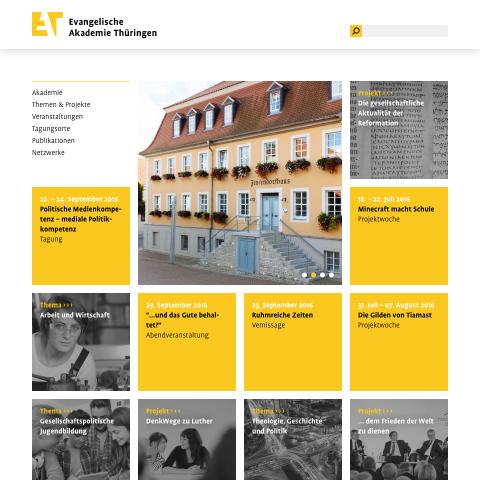 Website Evangelische Akademie Thüringen· Startseite