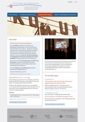 Website »Stiftung Ettersberg«